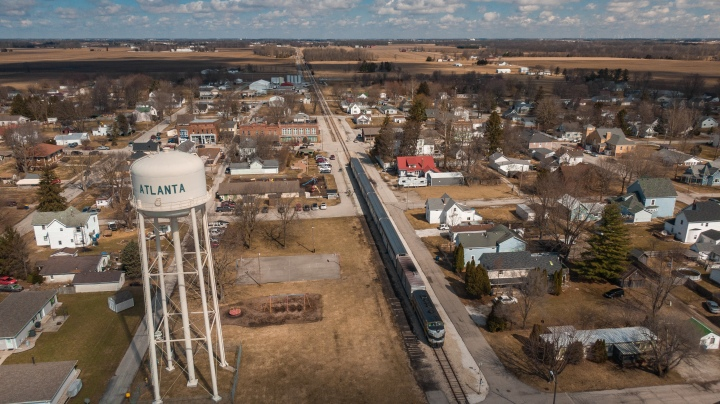Nickel Plate Express Drone Shot