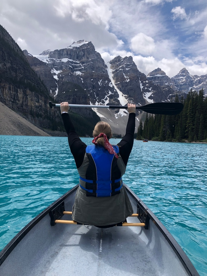 Canoeing on Moraine Lake