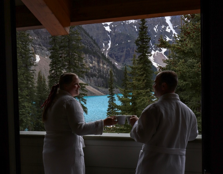 View from Moraine Lake Lodge room