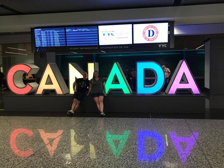 Calgary Airport Sign