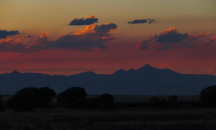 Mountains on Horizon in Colorado