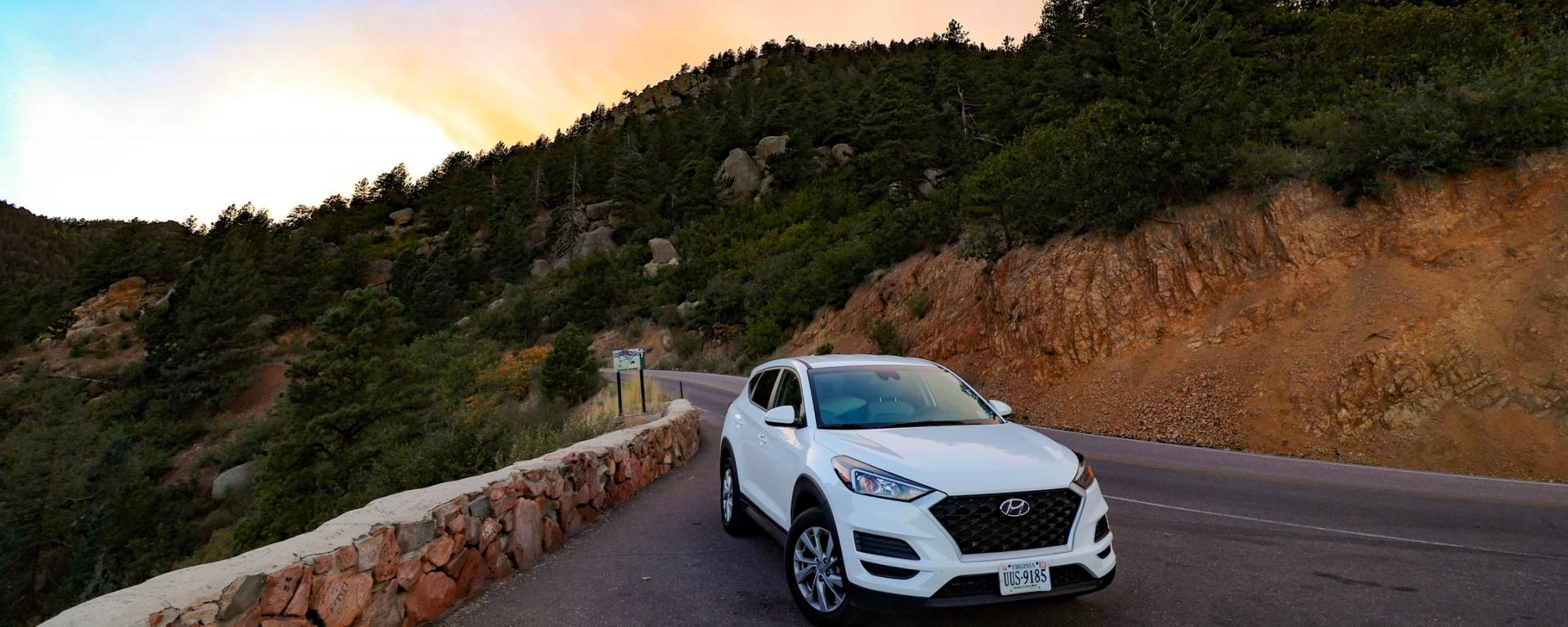Hyundai Tucson at Pikes Peak