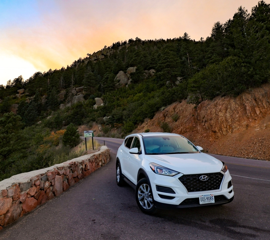 Hyundai Tucson at Pikes Peak