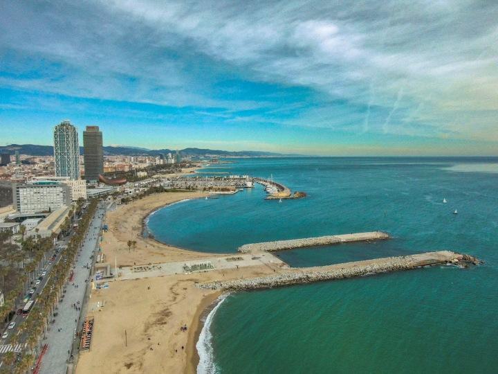 Platja de la Barceloneta Aerial
